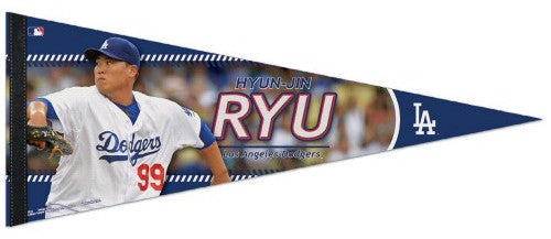 "Hyun-Jin Ryu ""Superstar"" Los Angeles Dodgers Premium Felt Collector's Pennant - Wincraft Inc."