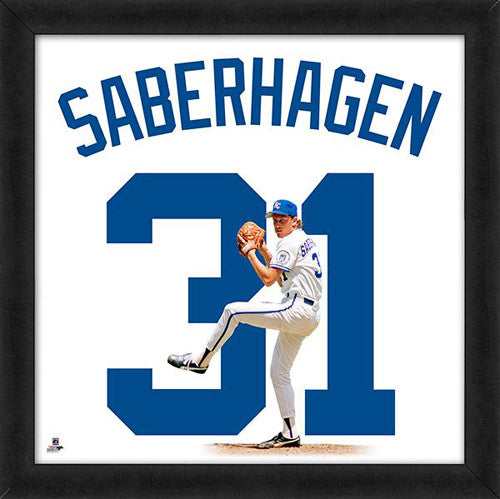 "Bret Saberhagen ""Number 31"" Kansas Ciy Royals FRAMED 20x20 UNIFRAME PRINT - Photofile"
