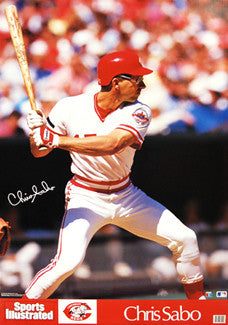 Chris Sabo Cincinnati Reds Classic Sports Illustrated Poster - Marketcom 1988