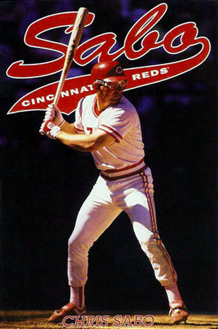 "Chris Sabo ""Spuds Action"" (1991) Cincinnati Reds Poster - Costacos Brothers"