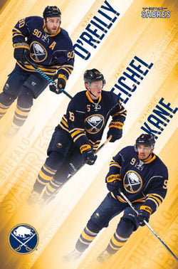"Buffalo Sabres ""Super Trio"" NHL Action Poster (O'Reilly, Eichel, Kane) - Trends International"