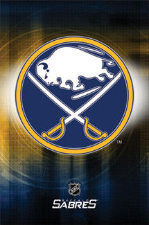 Buffalo Sabres Official NHL Team Logo Poster - Costacos