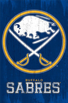 Buffalo Sabres NHL Hockey Official Retro-Style Team Logo Poster - Trends International