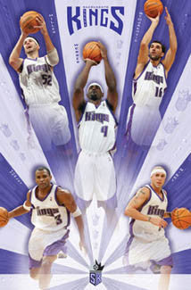 "Sacramento Kings ""Shine"" 5-Player Action Poster - Costacos 2005"