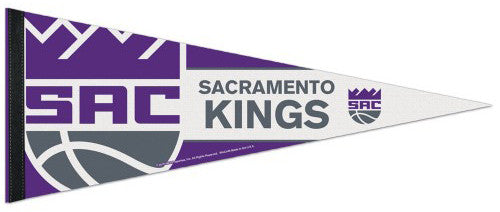 Sacramento Kings Official NBA Basketball Team Logo-Style Premium Felt PENNANT - Wincraft Inc.