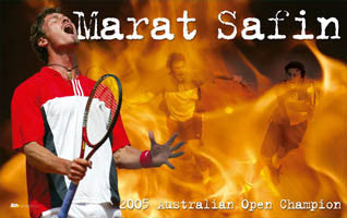 "Marat Safin ""On Fire"" - Ace Authentic 2005"