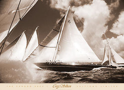 "Yachting Sailboat Racing ""The Cannon Race I"" Poster Print - C. Silken 2005"