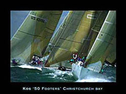 """50 Footers"", Christchurch Bay Yachting - Art Group Ltd."