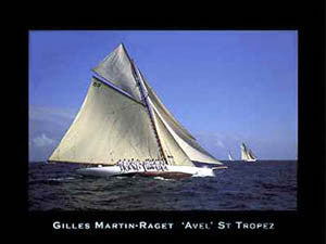 "Yachting ""Avel"", St. Tropez Sailing Premium Poster Print - Art Group Ltd."