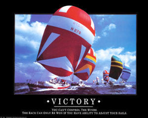 "Sailing ""Victory"" Motivational Poster - Angel Gifts Inc."