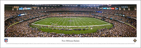 "New Orleans Saints Superdome ""Kickoff 2010"" Panoramic Poster Print - Blakeway Worldwide"