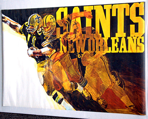New Orleans Saints 1972 Stancraft George Bartell Series Vintage Original Theme Art Poster