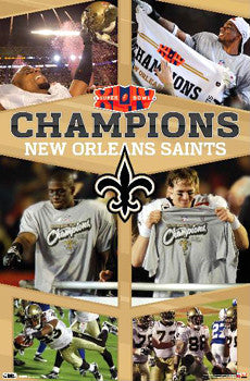 "New Orleans Saints Super Bowl XLIV ""Celebration"" Commemorative Poster - Costacos Sports"