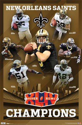 New Orleans Saints Super Bowl XLIV Champions Commemorative Poster - Costacos 2010