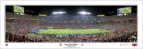 New Orleans Saints Super Bowl XLIV Panoramic Print - Everlasting 2010