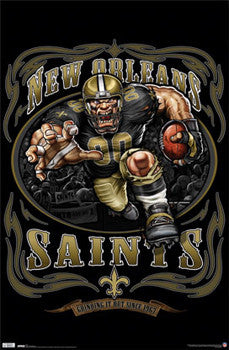 "New Orleans Saints ""Grinding it Out Since 1967"" Theme Art Poster - Costacos Sports"