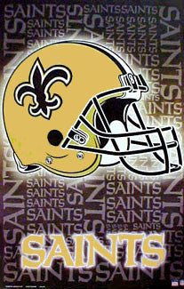 New Orleans Saints Official Helmet Logo Design Poster - Starline Inc.