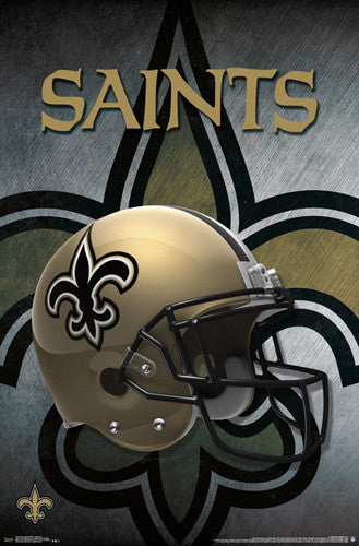 *SHIPS 12/18* New Orleans Saints Official NFL Football Team Helmet Logo Poster - Trends International