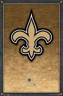 New Orleans Saints Official NFL Football Team Logo Poster - Costacos Sports