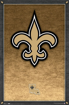 New Orleans Saints Official Nfl Football Team Logo Poster Costacos