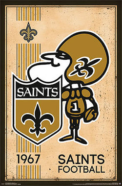 New Orleans Saints NFL Heritage Series Retro Logo c.1967 Official Team Poster - Costacos Sports