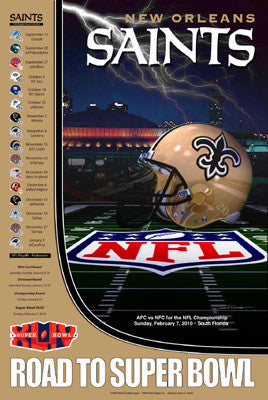 "New Orleans Saints ""Road to Super Bowl"" - Action Images 2009"