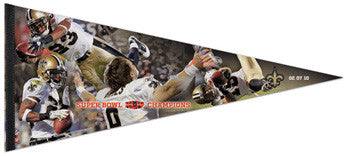 "New Orleans Saints Super Bowl XLIV ""Championship Moments"" XL 17x40 Premium Felt Pennant - Wincraft"