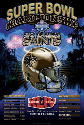 "New Orleans Saints ""Super Season 2010"" Poster - Action Images"