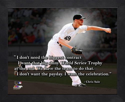 "Chris Sale ""The Celebration"" Chicago White Sox FRAMED 16x20 PRO QUOTES PRINT - Photofile"