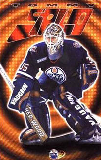 "Tommy Salo ""Stopper"" Edmonton Oilers Poster - Costacos 2000"