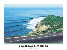 "Surfing ""Salsipuedes"" (Ensenada) Poster Print - Creation Captured"
