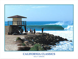 "Surfing ""Salt Creek Surf"" California Classics Poster Print - Creation Captured"
