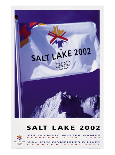 Salt Lake 2002 Winter Olympic Games Official Poster Reprint - Olympic Museum