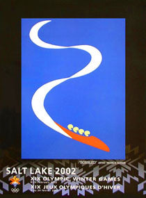 "Salt Lake 2002 Winter Olympics ""Bobsled"" Poster - Fine Art Ltd."