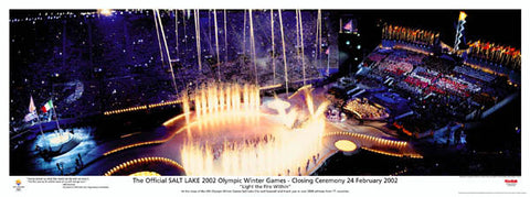 Salt Lake 2002 Official Closing Ceremony Commemorative Poster  - Kodak 2002
