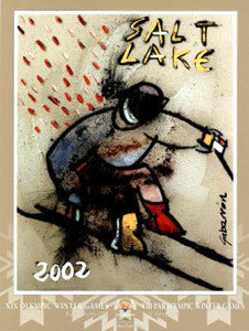 "Salt Lake 2002 Winter Olympic Games ""Ski Racer"" by Cristobal Gabarron - Fine Art Ltd."