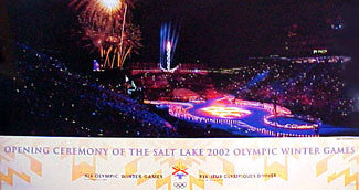 Salt Lake 2002 Winter Olympic Games Opening Ceremony Commemorative Poster - Fine Art Ltd. 2002