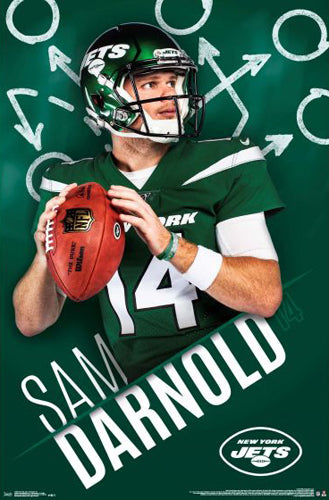 "Sam Darnold ""Going Deep"" New York Jets QB NFL Football Poster - Trends 2019"