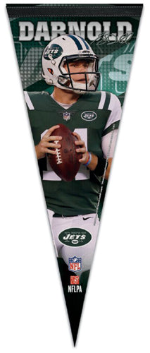 Sam Darnold Signature Action Series New York Jets NFL Football Premium Felt Pennant - Wincraft 2018