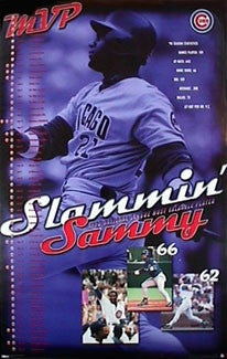 "Sammy Sosa ""MVP"" Chicago Cubs 1998 Season (66 Home Runs) Poster - Costacos Sports"