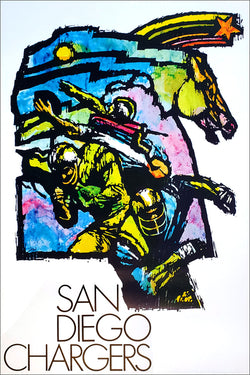 San Diego Chargers NFL Collectors Series Theme Art Vintage Original Poster (1970)