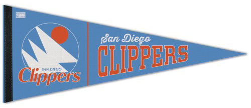 San Diego Clippers NBA Retro 1970s-Style Premium Felt Collector's Pennant - Wincraft Inc.