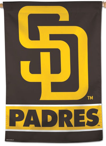 San Diego Padres Brown-and-Gold Official MLB Team Logo Premium 28x40 Wall Banner - Wincraft Inc.