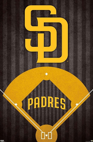 San Diego Padres Official MLB Baseball Team Logo Poster - Trends International 2020