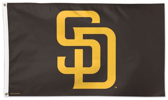 San Diego Padres SD Brown-and-Gold Style MLB Baseball Deluxe-Edition 3'x5' Flag - Wincraft