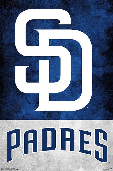 San Diego Padres Official MLB Baseball Team Logo Poster - Trends International