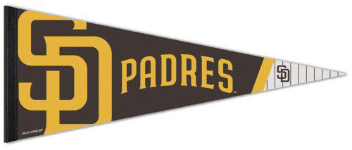 San Diego Padres Official MLB Baseball Premium Felt Collector's PENNANT - Wincraft Inc.