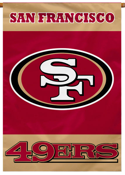 San Francisco 49ers Official NFL Football Premium 28x40 Banner Flag - BSI Products