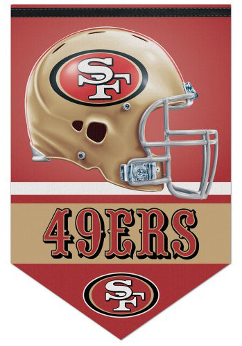 San Francisco 49ers Official NFL Football Team Premium Felt Banner - Wincraft Inc.