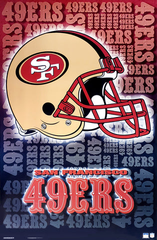 San Francisco 49ers Official NFL Football Team Logo Poster - Starline Inc.